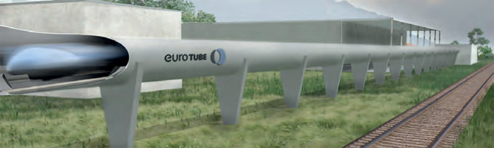 Hyperloop Teststrecke im Wallis (Grafik: EuroTube)