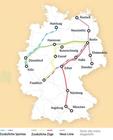 Mehr Züge im Fahrplan 2020