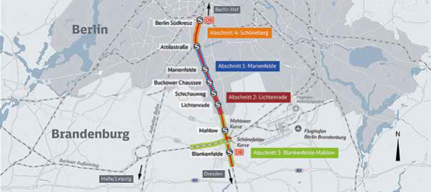 Baubeginn für Dresdner Bahn in Berlin