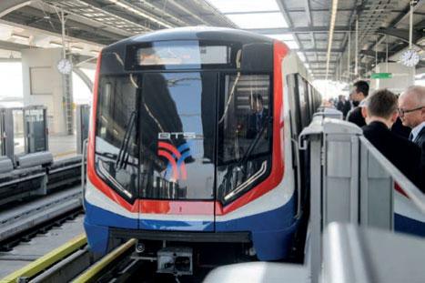 Metrozüge für Bangkoks Skytrain