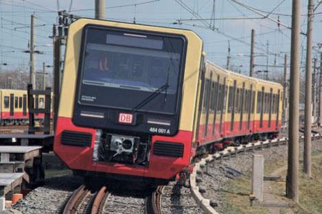 Berliner S-Bahn-Fahrzeuge im Testzentrum Wildenrath