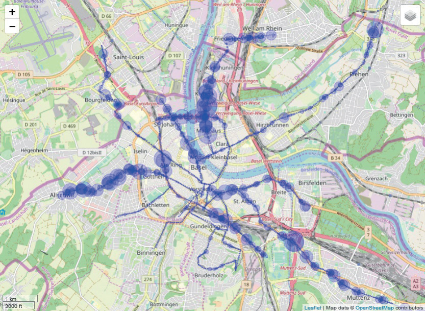 Energiesparpotential im Bahnenergieversorgungsnetz der Basler Verkehrs-Betriebe