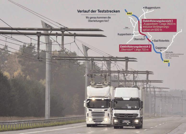 eWayBW: Oberleitungs-LKW im Murgtal