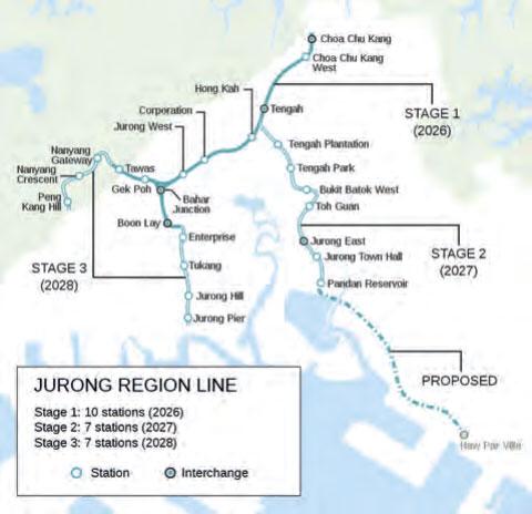 Jurong-Regionallinie in Singapur fährt autonom