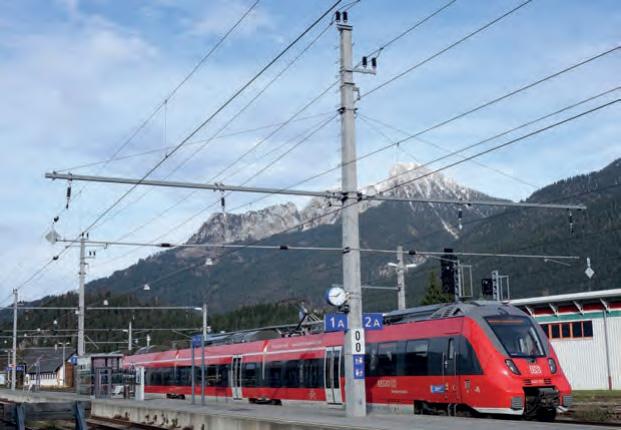 Strecken in Tirol zu 100 % elektrifiziert